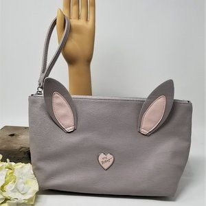 Handbags - Large Clutch Wristlet Gray with Ears  XOX Betsy